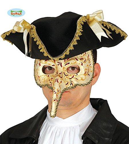 mit langer Nase mehrfarbig Erwachsene Halbmaske Fasching Party (Halloween-lange-nase-maske)