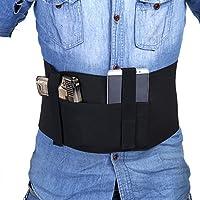 Bandolera Bandera Negro Elástico Derecha / Izquierda Dibujar Correa Segura para Oculto Carry Pistola Funda de pistola de banda de vientre