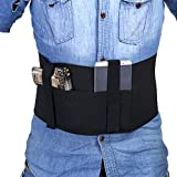 Tracolla bandiera Nero Elastico destro/sinistro disegno Straps Segura per nascosto Carry pistola Custodia di pistola di banda ventre