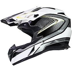 Casque de MOTOCROSS Moto Helm Enduro Quad ATV FMX MTB MX - Noir - M (57-58cm)
