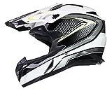 Offroad Motocross Motorrad Helm Cross Enduro Quad MX MTB ECE22-05 - Schwarz - M (57-58cm)
