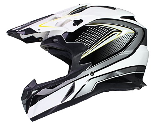OffRoad MOTOCROSS Motorrad HELM Cross Enduro Quad MX MTB ECE22-05 - Schwarz - S (55-56cm)