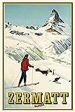 Zermatt Schweiz ski blechschild, tin sign, geschenk