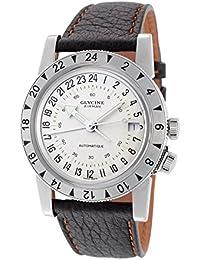 Glycine Airman Nº 1 reloj automático, GMT, diseño retro, color blanco, GL 293, pulsera de piel