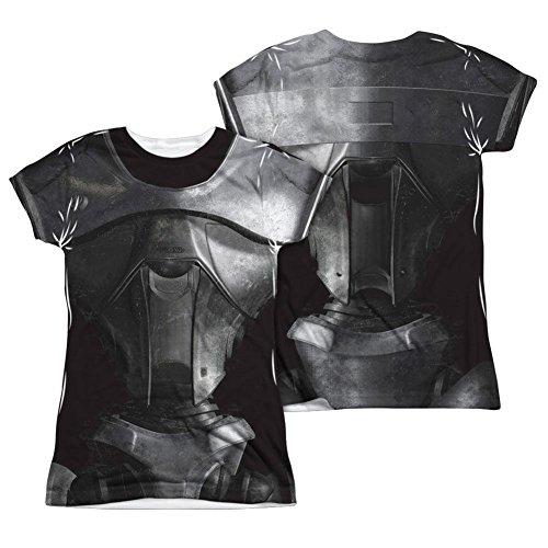 Battlestar Galactica Kostüm T-shirt (vorne nach hinten) (slim) T-shirt für Damen XX-Groß Weiß (Battlestar Galactica Kostüm)