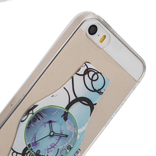 Apple iphone 6S Transparent Silikon Case, iphone 6 hülle,Ekakashop Ultra dünn Slim Durchsichtig Transparente Muster Crystal Gel Silikon TPU Motiv Bumper Cas Schutzhülle Etui Tasche Cover Schutz Hüllen Blaue Uhren