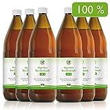 Aloe Vera Premium Bio Direktsaft, besonders wertvoll durch Handfiletierung und durchschnittlich 1200mg/l Aloverose, 6 x 1000ml