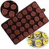 HENGSONG Emoji Emoticônes Silicone Moule à Chocolat Yourself Moules à Chocolat Bricolage