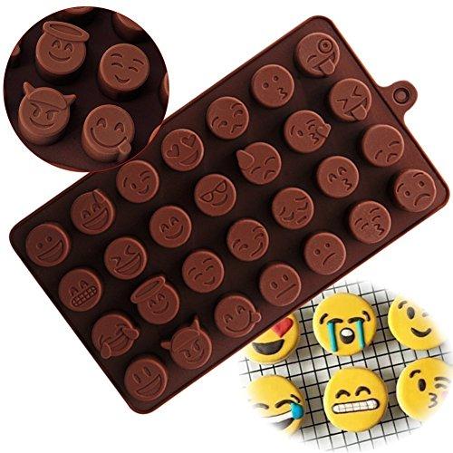 Ansford Emoji Emoticon Silikon Schkoladenform Selber Machen DIY Pralinenformen