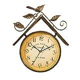 Horloge murale, montre oiseau en fer forgé style vintage - (7 pouces), salon chambre bureau - horloge silencieuse décorée.