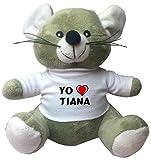 Ratoncito de juguete de peluche con camiseta con estampado de 'Te quiereo' Tiana (ciudad / asentamiento)