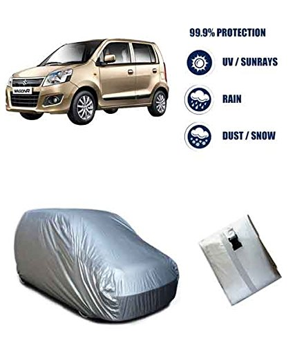Autowheel Silver Matty Car Body Cover For Maruti Wagonr (Tirpal)