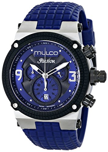 MULCO Unisex MW3-12140-415 Ilusion Analog Display Swiss Quartz Blue Watch