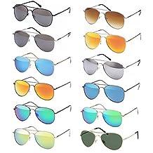 Gafas De Piloto Gafas de sol Década de los 70 Años Hombres Y Mujeres Gafas de Sol Gafas de aviador reflectante