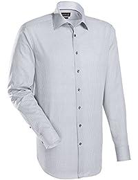 JACQUES BRITT Herren Hemd Custom Fit Brown Label Langarm Bügelleicht Smart Casual Hemd Hai-Kragen Manschette weitenverstellbar
