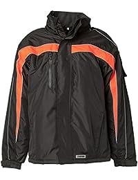 Planam Jacke Winter Cosmic, Größe M, schwarz / orange, 3601048