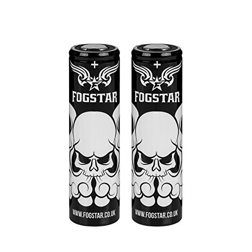 2 x Fogstar 18650 3.7V 3000mAh 20/30A Premium Vaping Battery - Flat Top - Independantly Tested