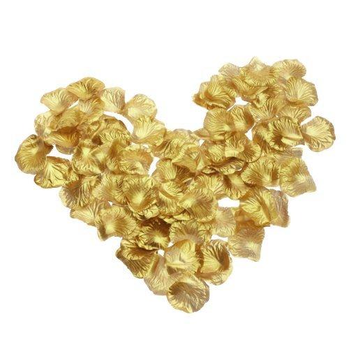 600 Stück Rosenblätter Blumen Bevorzugungen für Hochzeit Dekoration (Golden)