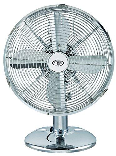 Argoclima Iridium, ventilatore da tavolo in metallo cromato da 30 cm e 45 W