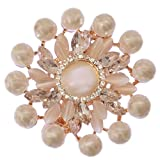 #9: Mansiyaorange party casual wear fancy Golden hair Clip pin accessories for women(GOLDEN WHITE)
