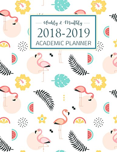 2018-2019 Academic Planner Weekly And Monthly: Student Planner, College Planner, Calendar Schedule Organizer and Journal Notebook (August 2018 - July 2019)