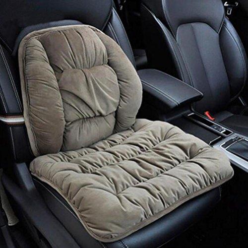 DIELIAN Verstellbare Lendenwirbelkissen Rückenstütze und Sitzauflagen Kissen Massager , Khaki (Verstellbare Taille-khaki)