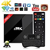 Aoxun Android 6.0 TV Box [ H96 Pro+ Plus CPU Amlogic S912 Octa-Core 64 Bits 3GB+32GB mit einem Wireless Keyboard ] WiFi Smart Set-Top-Boxen Bluetooth 4.0 und True 4K Playing