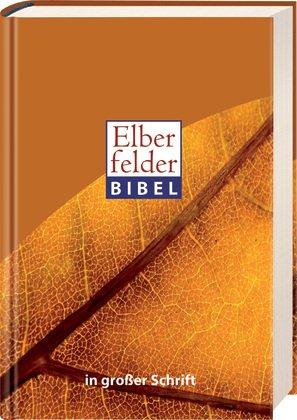 Elberfelder Bibel in großer Schrift, Motiv Blatt