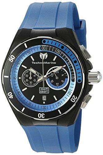 TechnoMarine TM-115162 Orologio da Polso, Display Cronografo, Uomo, Bracciale Silicone, Blu