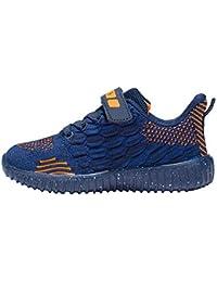 Zapatillas deportivas de malla para niños, zapatillas de malla tejida transpirable informal, zapatos para caminar antideslizantes ligeros y transpirables para niños y niñas, zapatillas para correr a