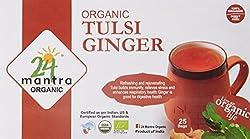24 Mantra Organic Tulsi Ginger Tea, 25 Bags