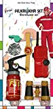 Mottoland Feuerwehr Zubehör zum Kostüm Feuerwehrmann Karneval Fasching