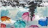 BHXINGMU Große Benutzerdefinierte Tapete Wolken Steine Sonnenschirme Wohnzimmer Tv Sofa Hintergrund Wohnkultur 250Cm(H)×360Cm(W)