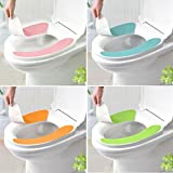 HuntGold 1 Paar weiche bequeme Waschbar Badezimmer WC Sitz Cover Mat Deckel Closestuch (blau)