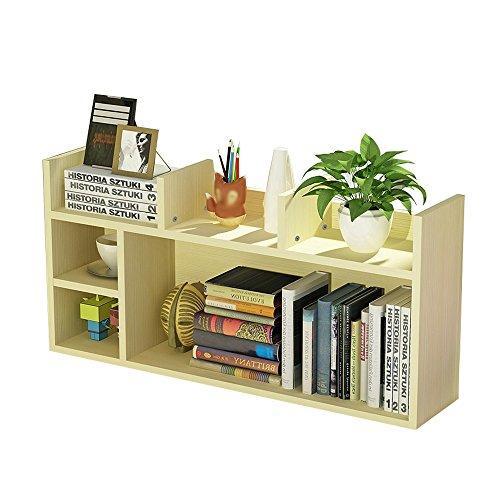 AJZGF Europäische Bücherregal einfache Startseite Holz Desktop kleinen Bücherregal Bücherregal Büro Art Lagerregal, Größe 80/90 * 20 * 45 cm Regal (Ahorn Vintage Schreibtisch)