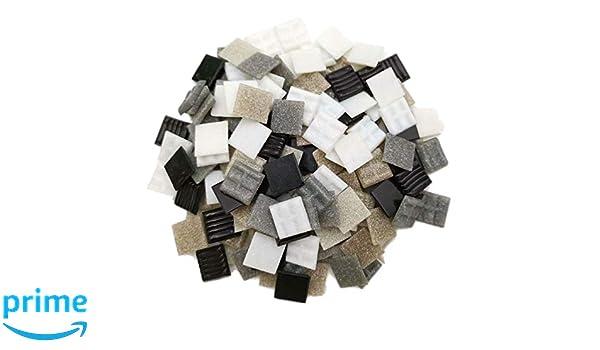 Bianco//Grigio//Nero Pietra per Mosaico 2 x 2 cm Una Bottiglia da 250 g , Armena Circa 165 Pezzi
