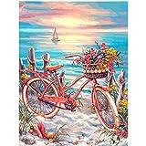 AYSUNJIE Puzzles 1000 Pezzi Adulto Puzzle di Legno Bambini-Fiori Rosa Cestino della Bicicletta-Regalo per Decorazioni per La Casa Festival Moderno Regalo Fai da Te Gioco Intellettuale 75X50Cm