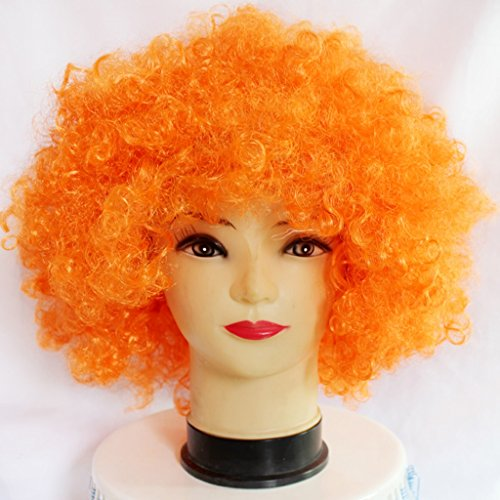 Farbe Explosion Kopf Clown COSPLAY Haarbedeckung ( Farbe : Orange ) (Tun Halloween Zombie Make-up)