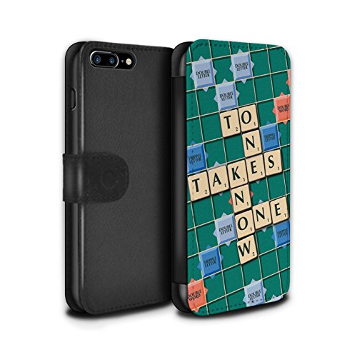 Stuff4 Coque/Etui/Housse Cuir PU Case/Cover pour Apple iPhone 7 Plus / Ignorance Béatitude Design / Mots de Scrabble Collection Connaître