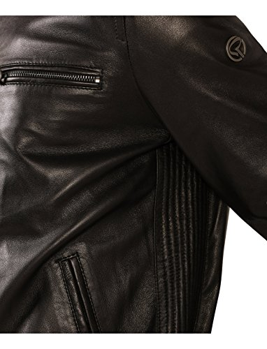 Redskins - Blouson en cuir Yann Ottawa Black Noir