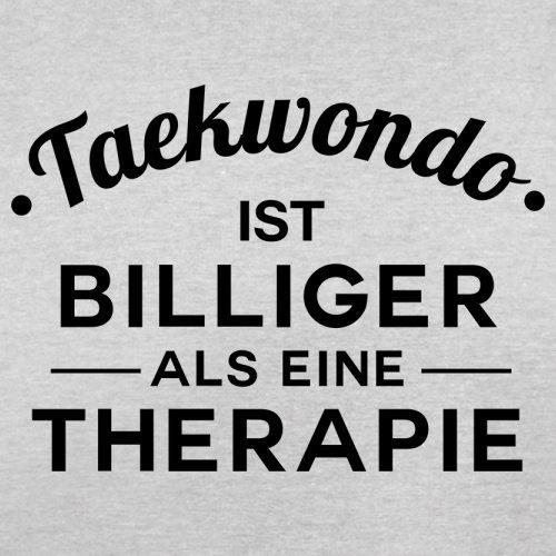 Taekwondo ist billiger als eine Therapie - Herren T-Shirt - 13 Farben Hellgrau