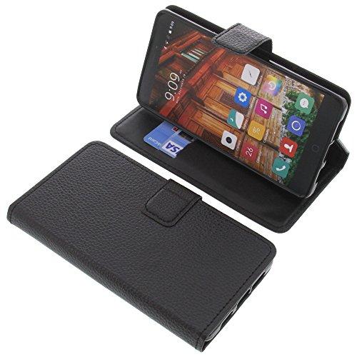 foto-kontor Tasche für Elephone P9000 Lite Book Style schwarz Schutz Hülle Buch
