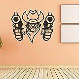 ZMYZ Adesivo da parete murale Adesivi Murali di Arte del Cowboy Occidentale Camera da Letto per Bambini Decorazione Camera Adesivi Murali Staccabili Adesivi Murali
