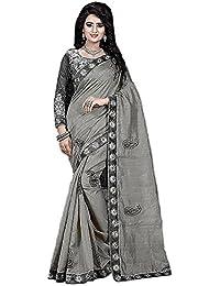 G Stuff Fashion Women Bhagalpuri silk Saree with Blouse piece_SE_madhuri_Grey