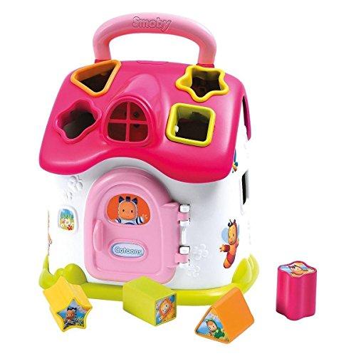 Smoby - Casita juguete para niñas Cotoons Electronic Forms, color rosa (110401)
