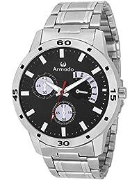 Armado Analogue Chronograph Black Dial Watch For Men - AR-071-BLK