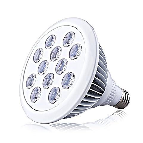 COOWOO LED Pflanzenlampe E27 Wachtums Blüteleuchte 24W für Zimmerpflanzen, Blumen,