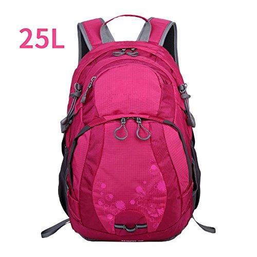 Bergsteigen-TascheSchulternwasserdichteleichteWander-FreizeitFreizeitMulti-funktionaleReiseTascheOutdoor-backpack,blue(25L) red(25L)