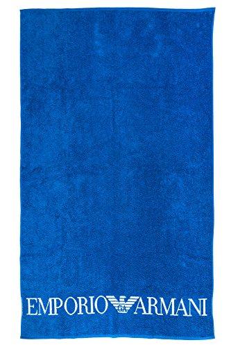 Emporio armani telo mare asciugamano uomo originale blu