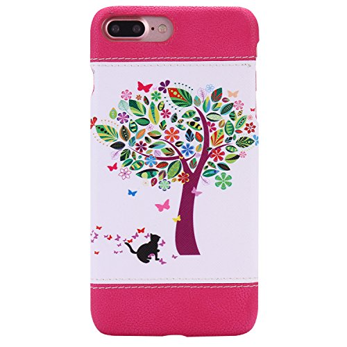 iPhone 7 Plus Coque,iPhone 7 Plus Case,iPhone 7 Plus Cover - Felfy Super Slim Mince PC Plastic Case Motif de Couleur Design Coque Housse de Protection Etui Anti Scratch Antichoc Case Cover Case Bumper Chats et Arbre